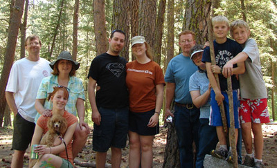camping group photo